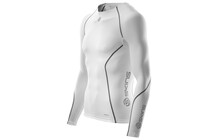 SKINS A200 Men's Long Sleeve Compression Top blanc